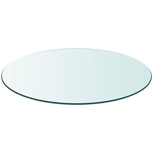 runde Kaminofenplatte aus Glas