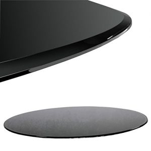 Glasbodenplatte Schwarz