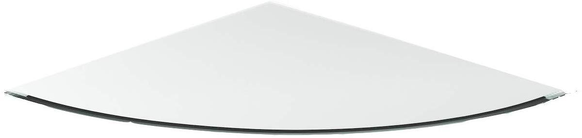 Viertelkreis Kaminofenplatte aus Glas