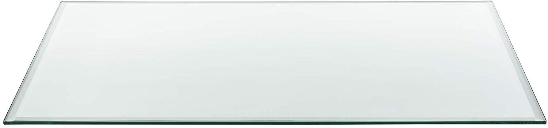 eckige Kaminofenplatte aus Glas