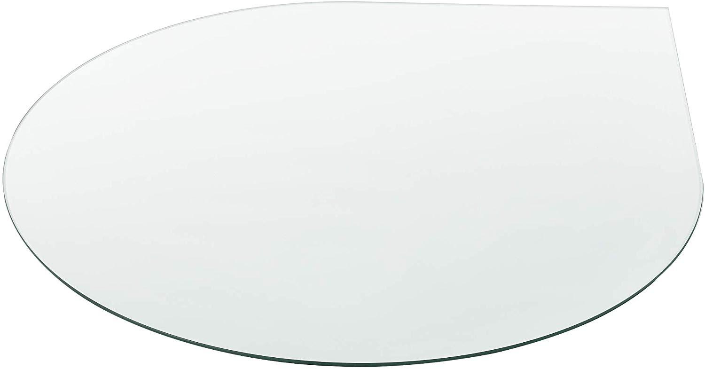 Tropfenbogen Kaminofenplatte aus Glas